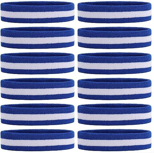 ONUPGO Lot de 6 bandeaux de sport en tissu /éponge absorbant la transpiration