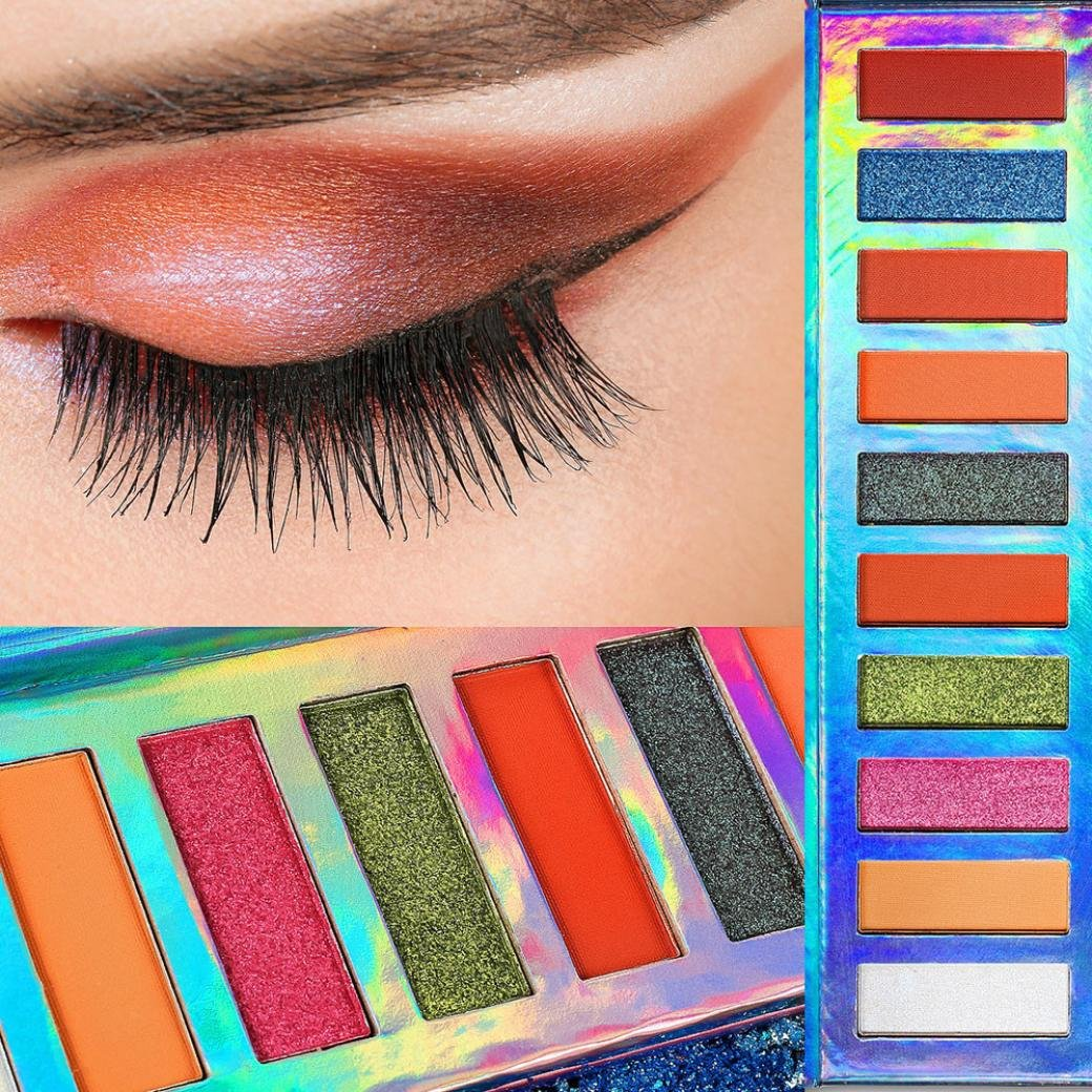 Beauty Essentials Beauty & Health Brand 12 Color Liquid Quality Sequins Eye Shadow Palette Matte Shimmer Flash Smoky Makeup Powder Cosmetics Set Shadow Palette Vivid And Great In Style