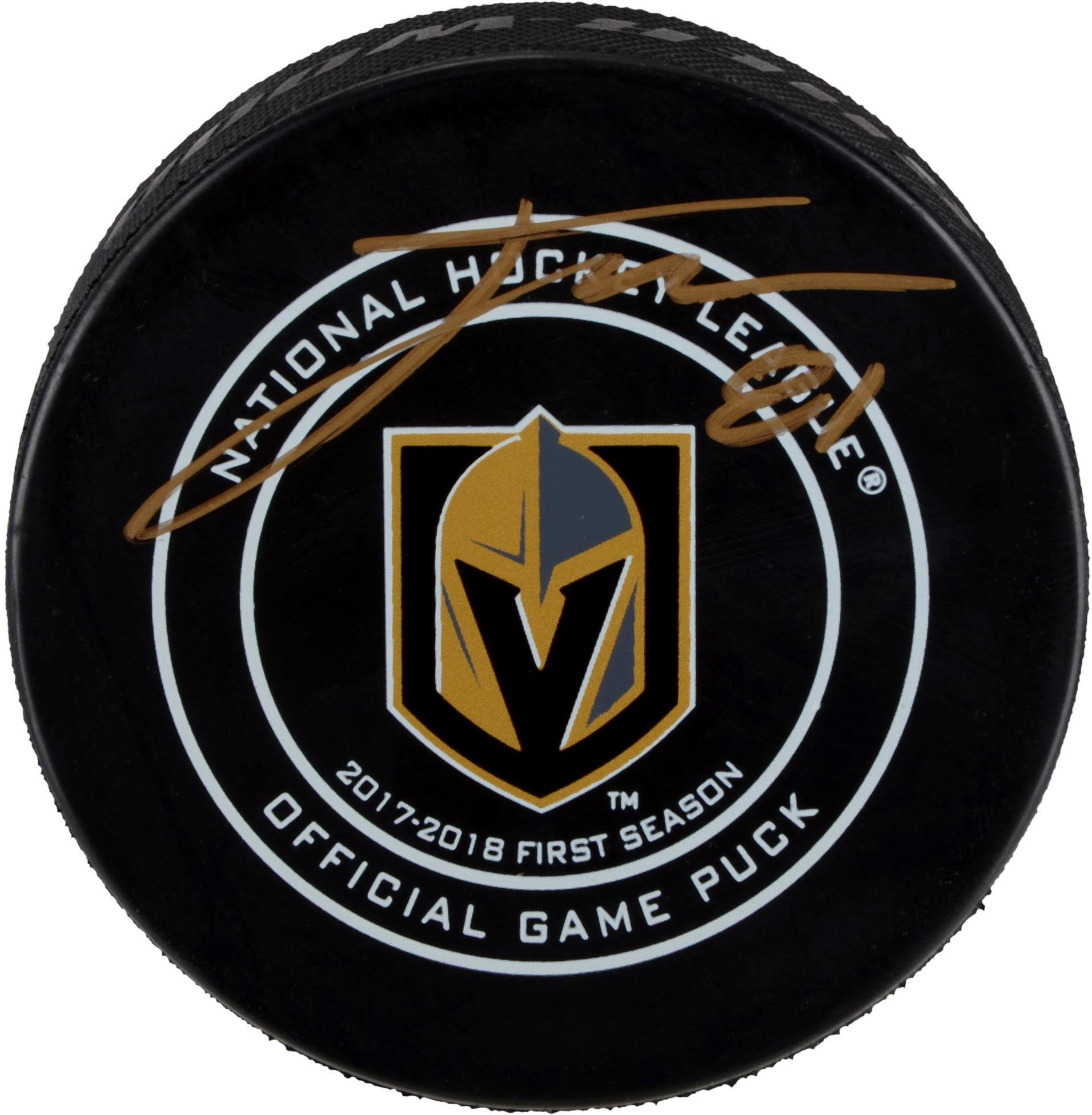 Jonathan Marchessault Vegas Golden Knights Autographed Official Game Puck Fanatics Authentic Certified