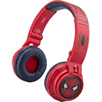 eKids Spiderman Wireless Bluetooth Portable Kids Headphones with Microphone, Volume Reduced to Protect Hearing…