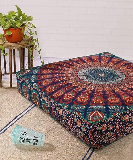 Amazon.com: Funda de almohada cuadrada otomana con diseño de ...