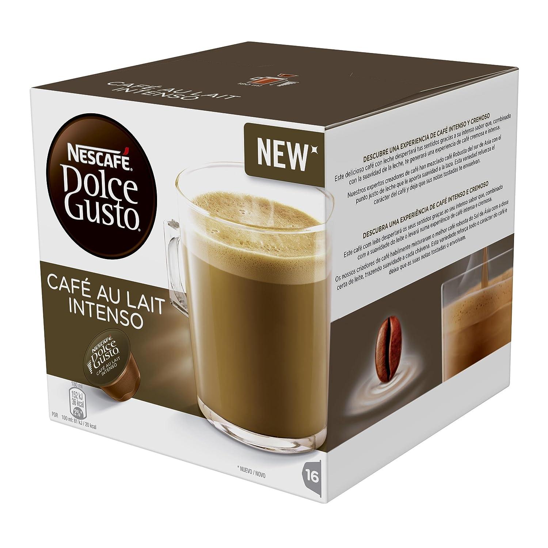DOLCE GUSTO café con leche intenso 16 cápsulas caja 160 gr: Amazon.es: Alimentación y bebidas