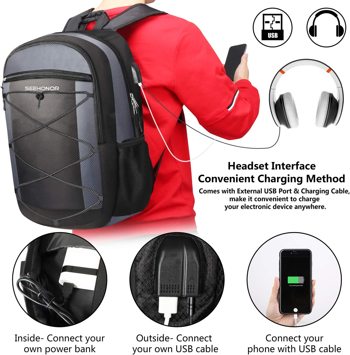 Amazon coupon code for Laptop Backpack with USB Charging Port