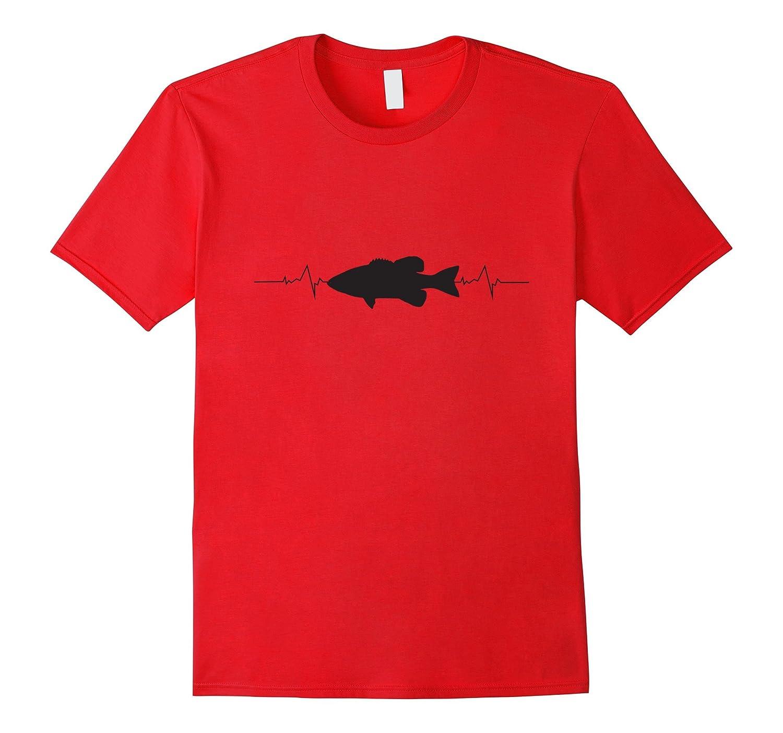 Bass Fishing Heartbeat T-Shirt-Art