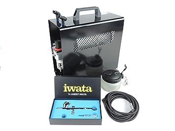 Iwata High Performance Plus HP-CN - Aerógrafo con compresor El Juego Completo para Principiantes