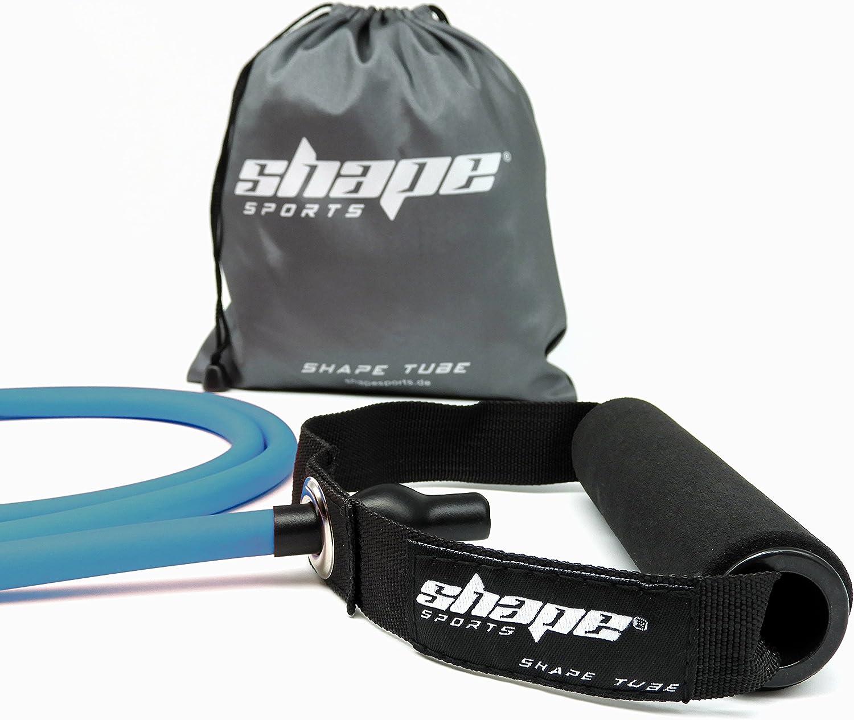 Gym Fitness Tube Poign/ée en Mousse R/ésistance Moyenne shape sports /® Shape Tube Premium Latex Naturel Pilates Pochette de Transport Promesse de Satisfaction /à 100/% Yoga