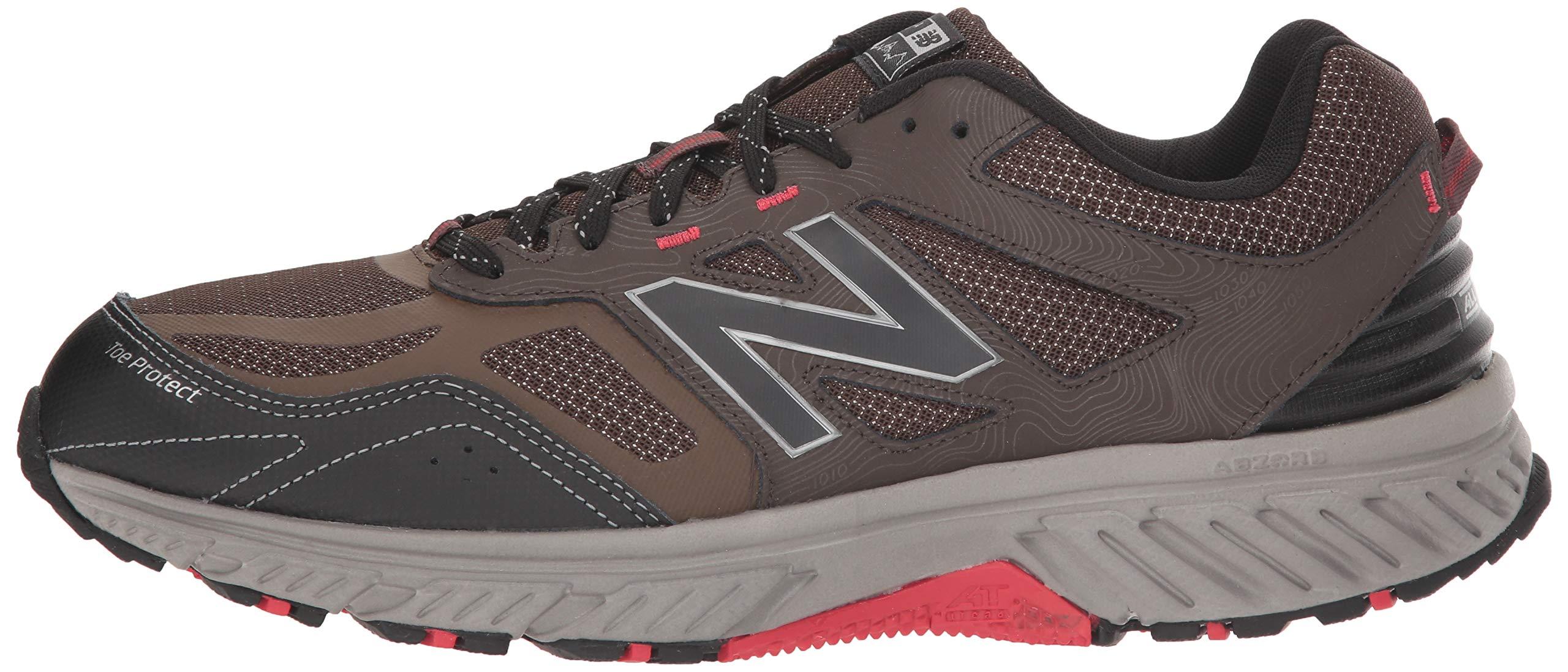 New Balance Men's 510v4 Cushioning Trail Running Shoe, Chocolate/Black/Team red, 7 D US by New Balance (Image #5)