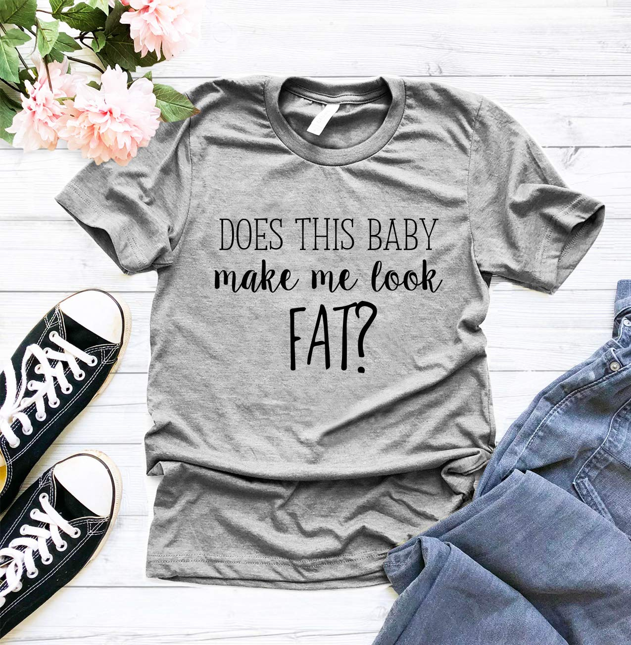 d95b60e83 Does This Baby Look Me Fat T Shirt, Funny Pregnancy T-Shirt, Pregnancy  Announcement Shirt, Pregnant T Shirt,Mom To Be Shirt, Maternity T Shirt, First  Time ...