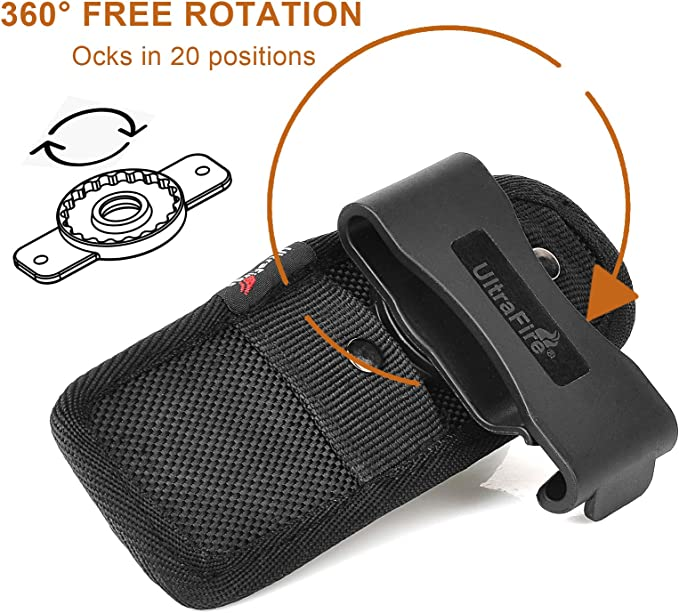 New Belt Clip Flashlight Holster Pouch for Surefire Ultrafire Tactical LED Torch