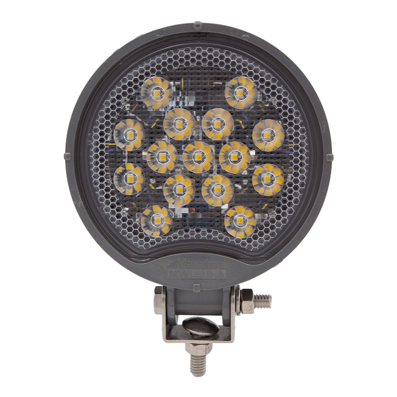Maxxima MWL-19-A-MH 675 Lumens White Round Work Light-MaxxHeat Heated Lens