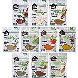 Club House, Quality Natural Herbs & Spices, Organic Pantry Essentials Pack, 10 Count (garlic powder, onion powder, chili powd