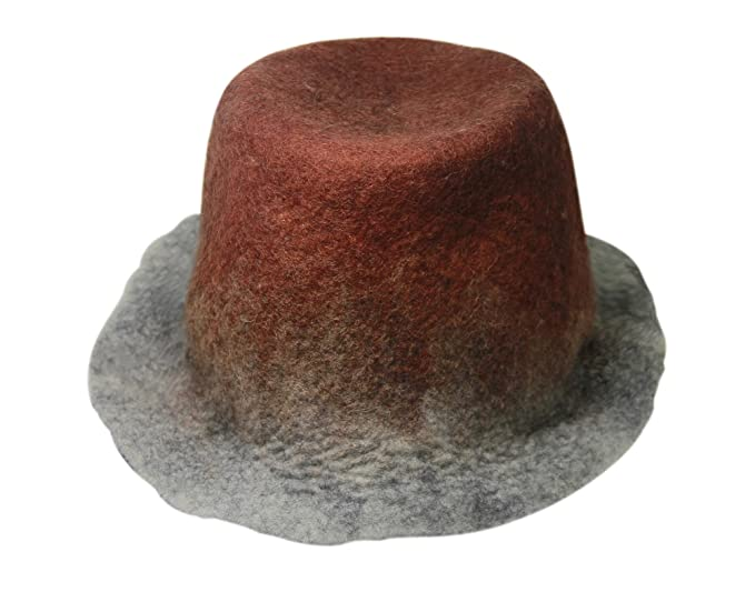 51bb3319f9f Ysting Unique Handmade Felt Hats Grey Felted Hat Unique Felted Hat Grey Felt  Hat (B