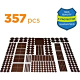 X-PROTECTOR Premium HUGE PACK Felt Furniture Pads 357 pcs! HUGE QUANTITY of Felt Pads For Furniture Feet with MANY BIG SIZES – Your IDEAL Wood Floor Protectors. Protect Your Hardwood & Laminate Floor!