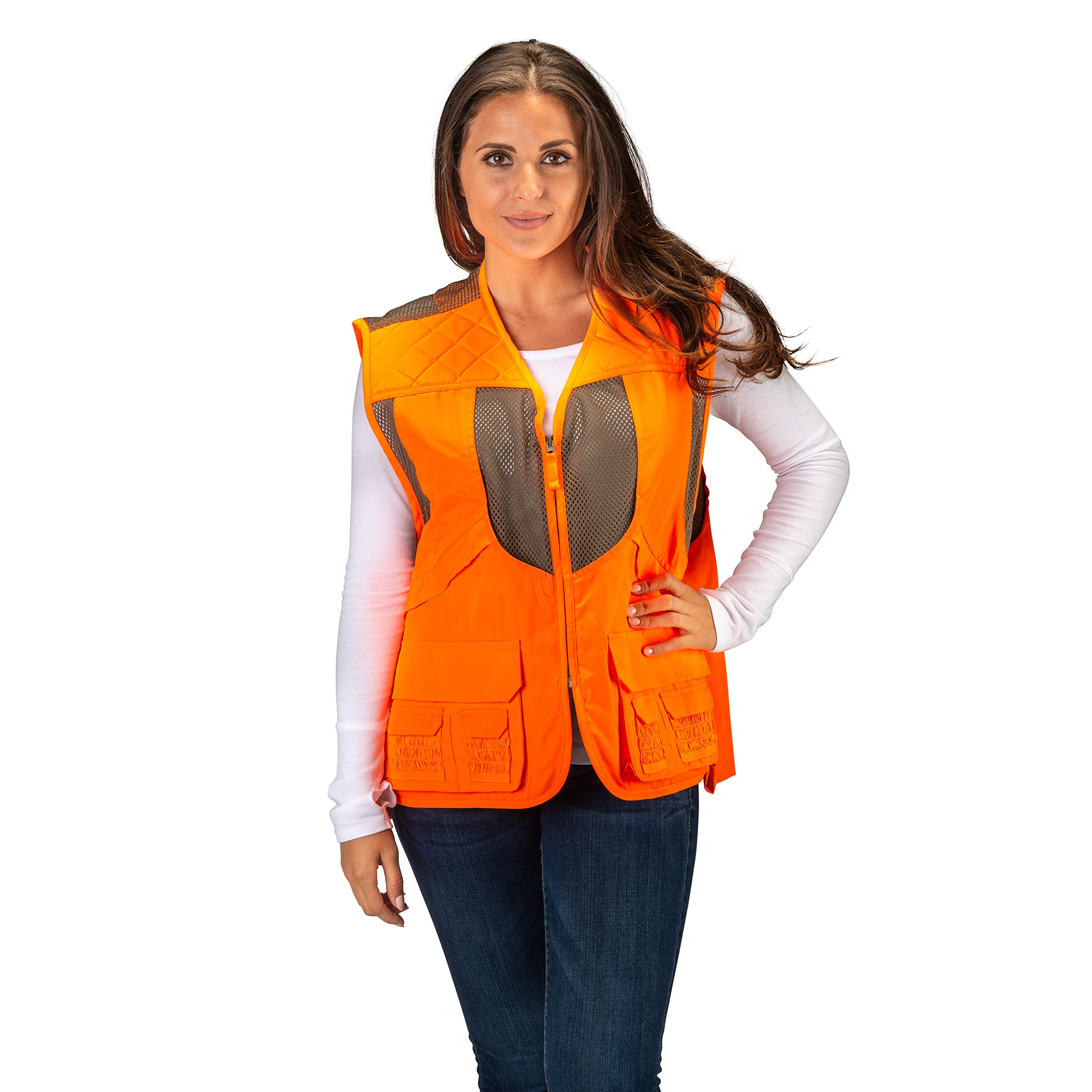 TrailCrest Mens Blaze Orange Safety Deluxe Front Loader Vest, 3X by TrailCrest (Image #3)