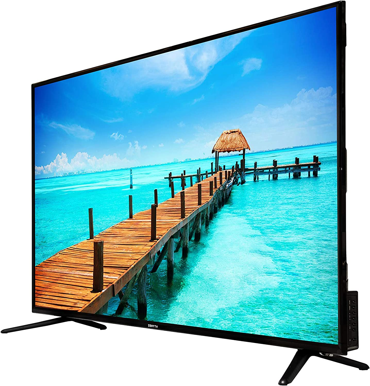 ZENYTH ZYS49FHD 2019 SMART TV LED FULL HD 49 Pollici Perfetta Per Casa 1 presa SCART 1920x1080 Pixel 60 Hz 1 porta USB HOTEL MODE Uffici e Alberghi Nero 3 Porte HDMI Classe A DVB-T2