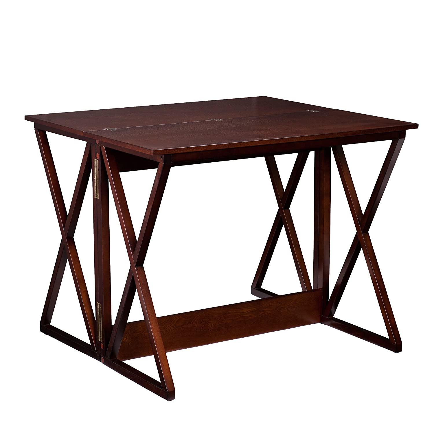 Amazoncom Southern Enterprises Derby Convertible Console Dining - Bar height extendable dining table