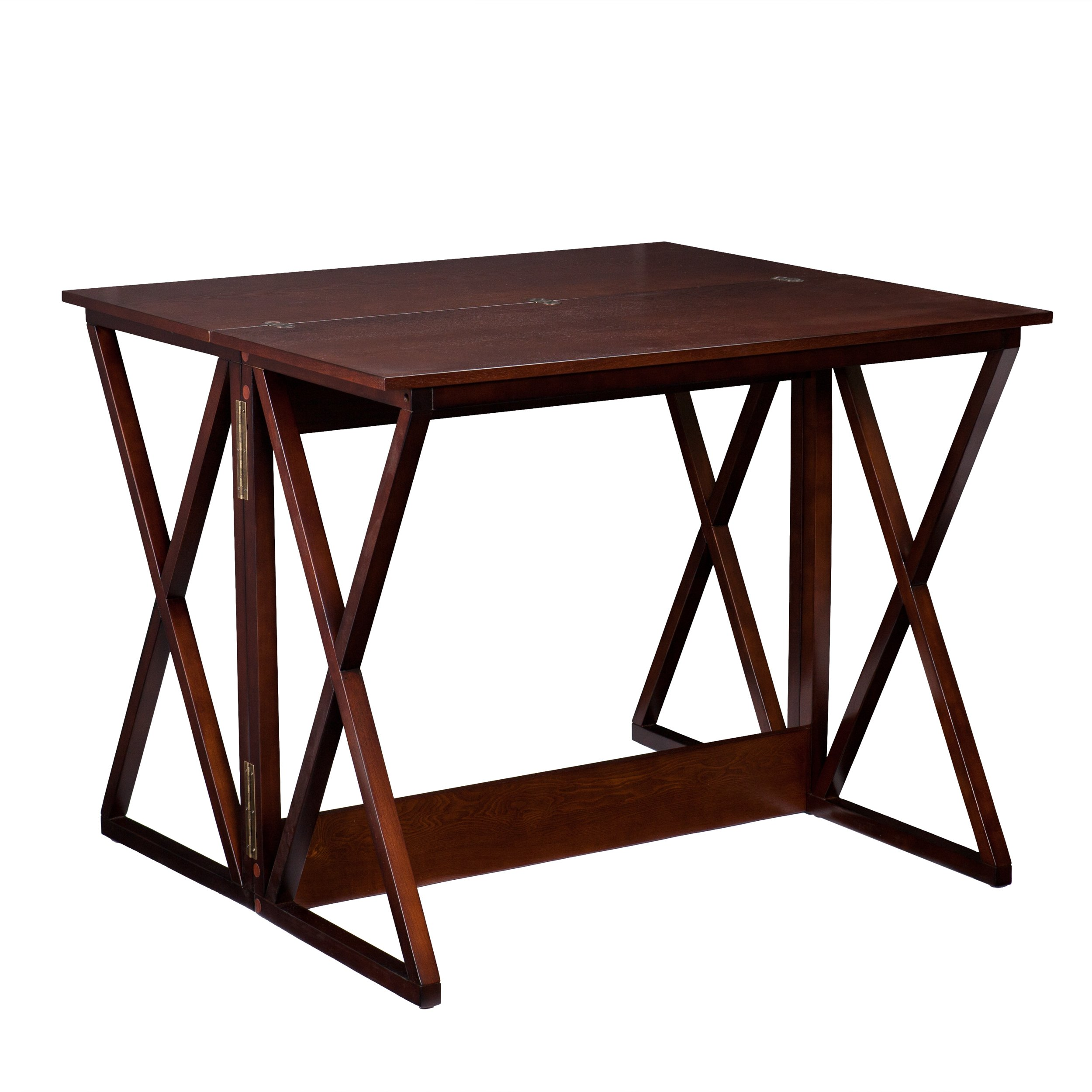Derby Convertible Console Dining Counter Table - Seats 2 to 4 - Expresso Wood Finish