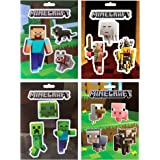 Minecraft Sticker Party Pack (Steve Pets, Baby Animals, Mob Nether, Mob Caves), 17 Stickers