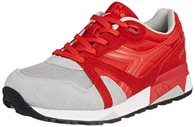 Diadora N9000 NYL Mens Red Gray SuedeSynthetic Lace Up