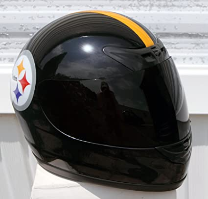 e3f5e0aa656 Amazon.com  Pittsburgh Steelers Full Face Motorcycle Helmet - LARGE L - DOT  Approved - NFL Football - Black  Automotive