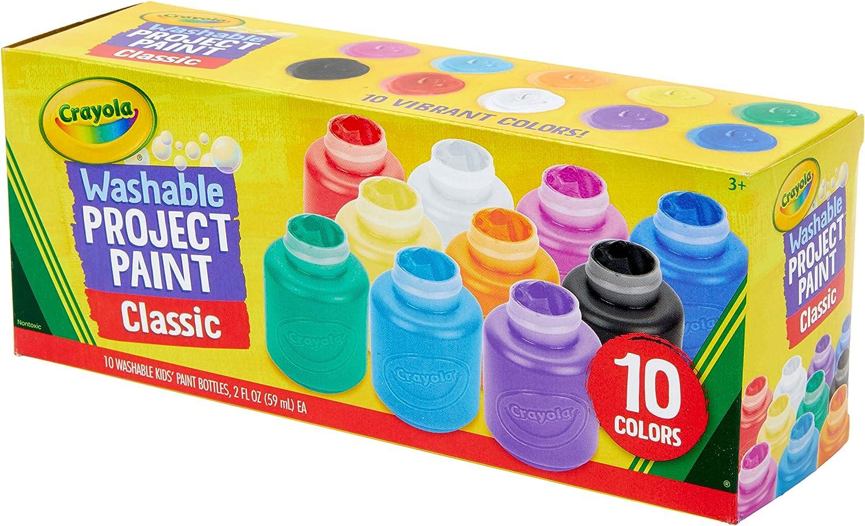 Crayola Washable Kids Paint Set, 10 Count: Toys & Games