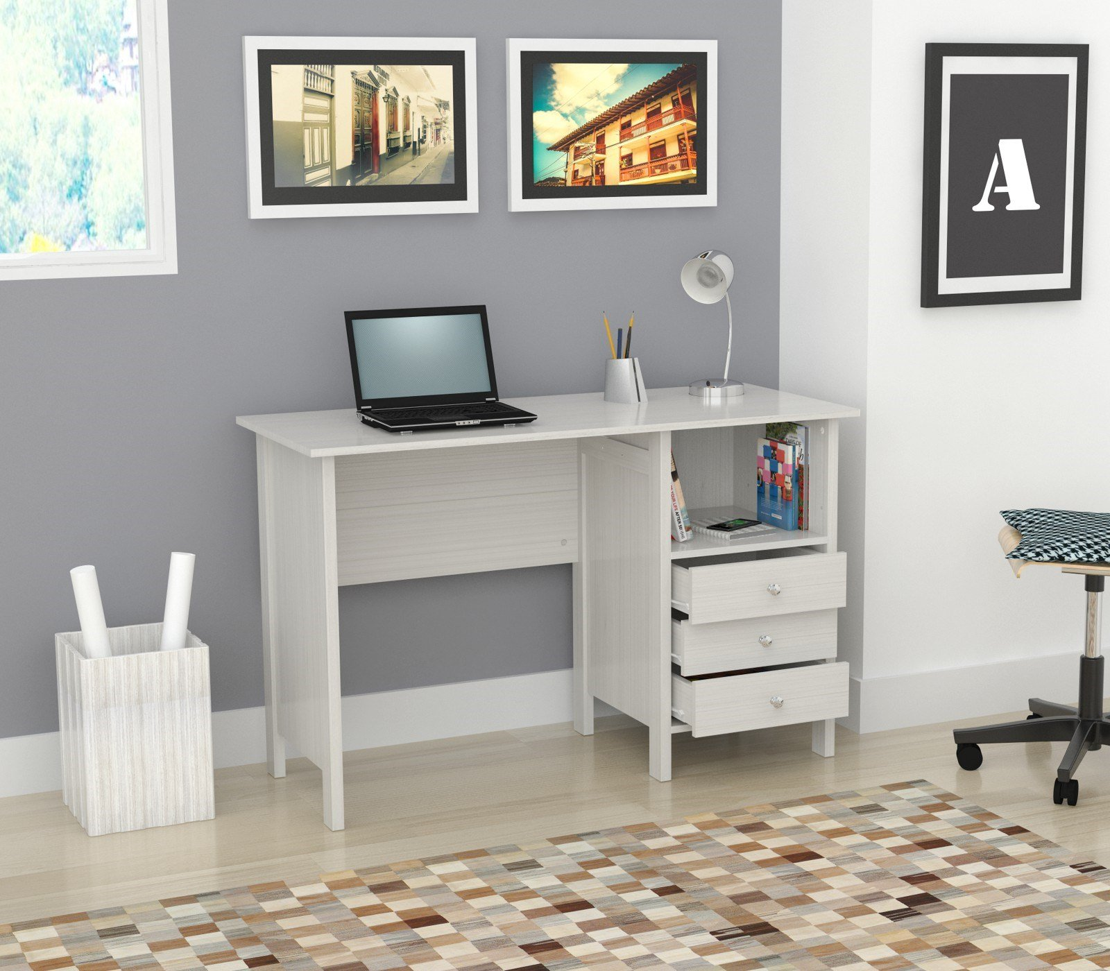 Inval ES 3303 Laura Collection Computer Desk by Inval America (Image #3)