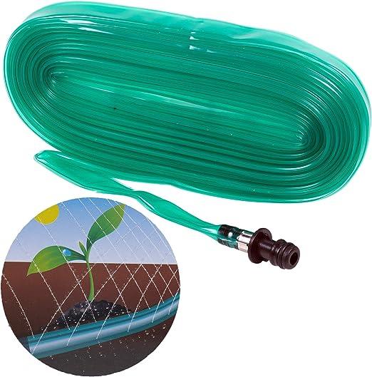 URBNLIVING - Juego de 2 mangueras de riego Perforadas para jardín de 7, 5 m – Equipo de riego – Compatible con Accesorios de Agua estándar: Amazon.es: Jardín