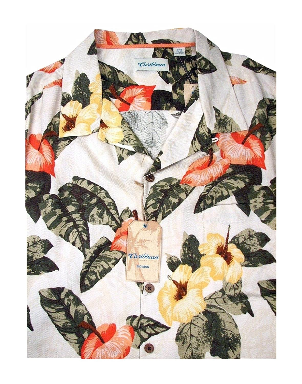 06b5f2aaceeb Caribbean Big and Tall Men s Hawaiian Shirt at Amazon Men s Clothing store