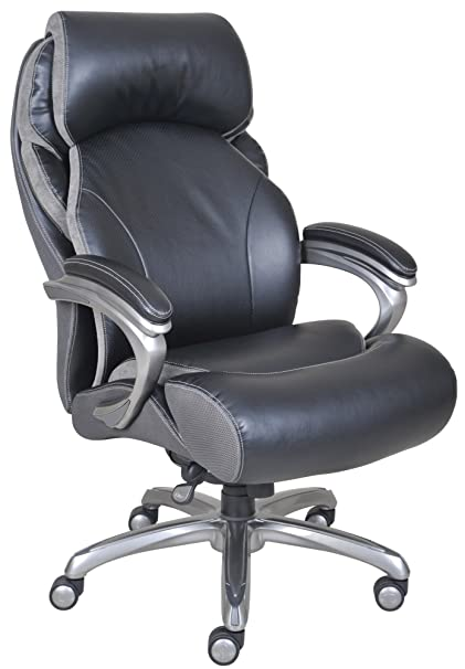 Attirant Serta Big And Tall Smart Layers Tranquility Executive Office Chair With AIR  Technology, Black