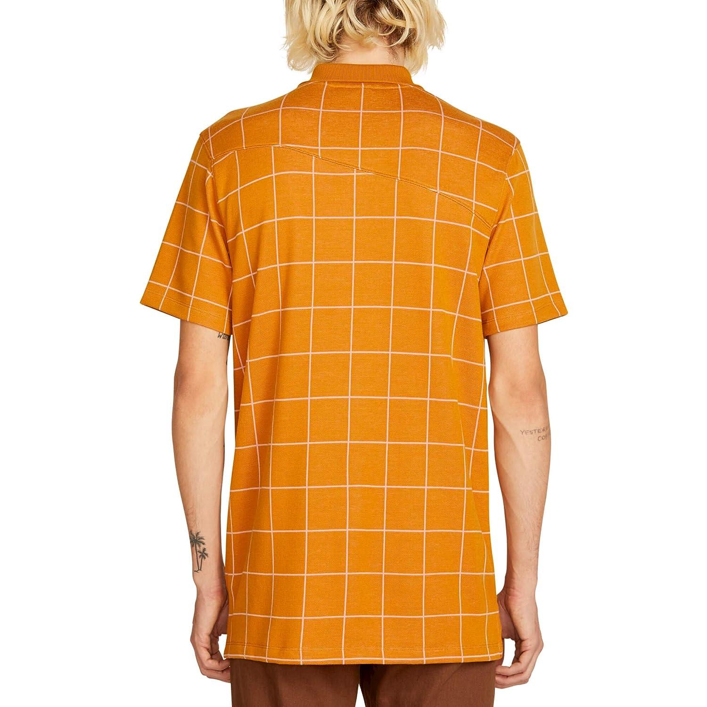 Volcom Mens Wowzer Plaid Polo Shirt