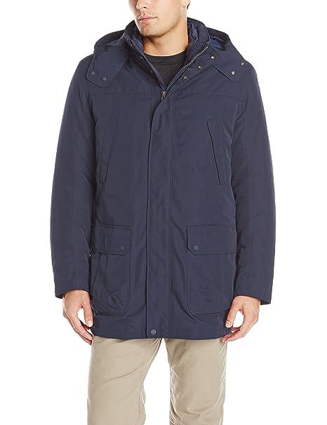 607a3d9596 Geox Men's Hooded Storm Jacket, Dark Navy, 58: Amazon.ca: Clothing ...