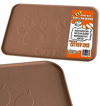 Amazon.com: iPrimio - Alfombrilla de alimentación para gatos ...