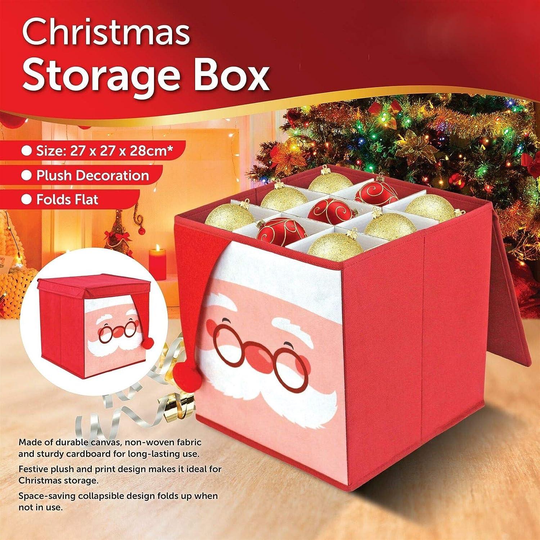 ADEPTNA - Caja de Almacenamiento para decoración de árbol de Navidad, diseño Plegable: Amazon.es: Hogar