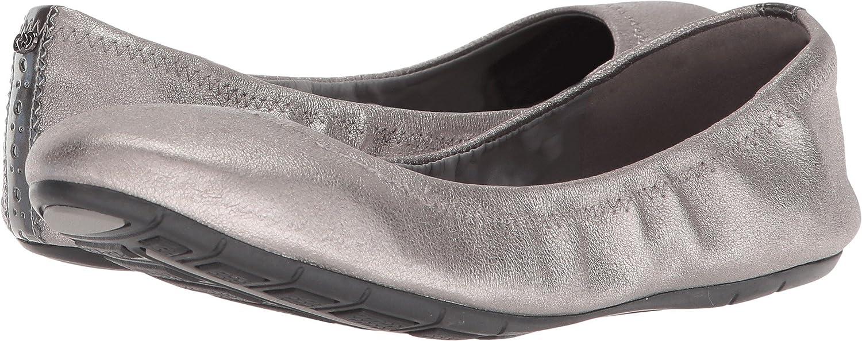 Cole Haan Women's Zerogrand Ii Ballet Flat B079P96HGK 6.5 B(M) US|Gunmetal Shimmer Metallic Leather