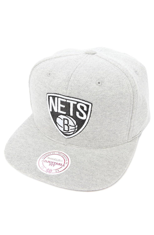 Mitchell & NessメンズThe Brooklyn Nets杢スナップバックキャップ One Size グレー B00DCCCIXA