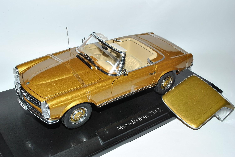 Norev Mercedes-Benz 230SL Pagode Roadster Gold W113 1963-1971 1963-1971 W113 1/18 Modell Auto mit individiuellem Wunschkennzeichen b5cf72