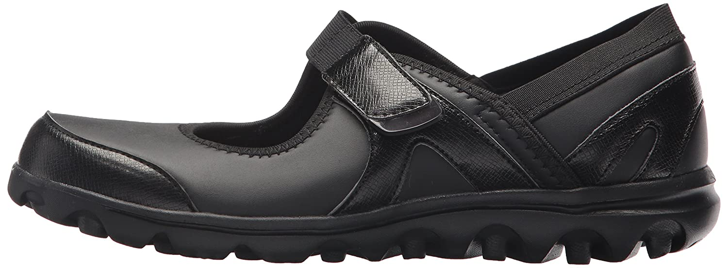 Propét Women's B073C4P45N Onalee Mary Jane Flat B073C4P45N Women's 11 4E US|All Black Smooth 822c2b