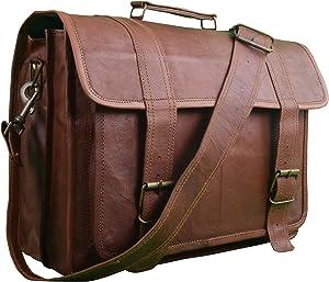 STYLISH Men's Laptop Messenger Satchel Briefcase Shoulder Bag Handmade Vintage Brown Leather Office Bag Crossbody College Bag