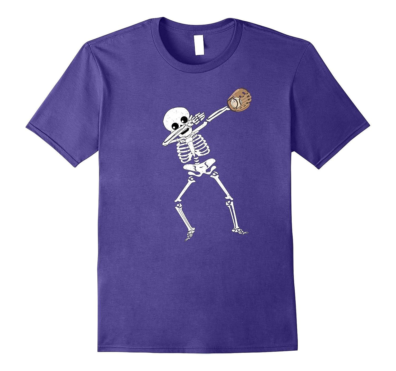Halloween Dabbing Skeleton Baseball T Shirt Funny Dab Dance-T-Shirt