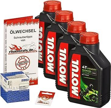 Motul 10w 40 Öl Mahle Ölfilter Für Kawasaki Z 750 R 07 14 Zr750l Zr750n Ölwechselset Inkl Motoröl Filter Dichtring Auto