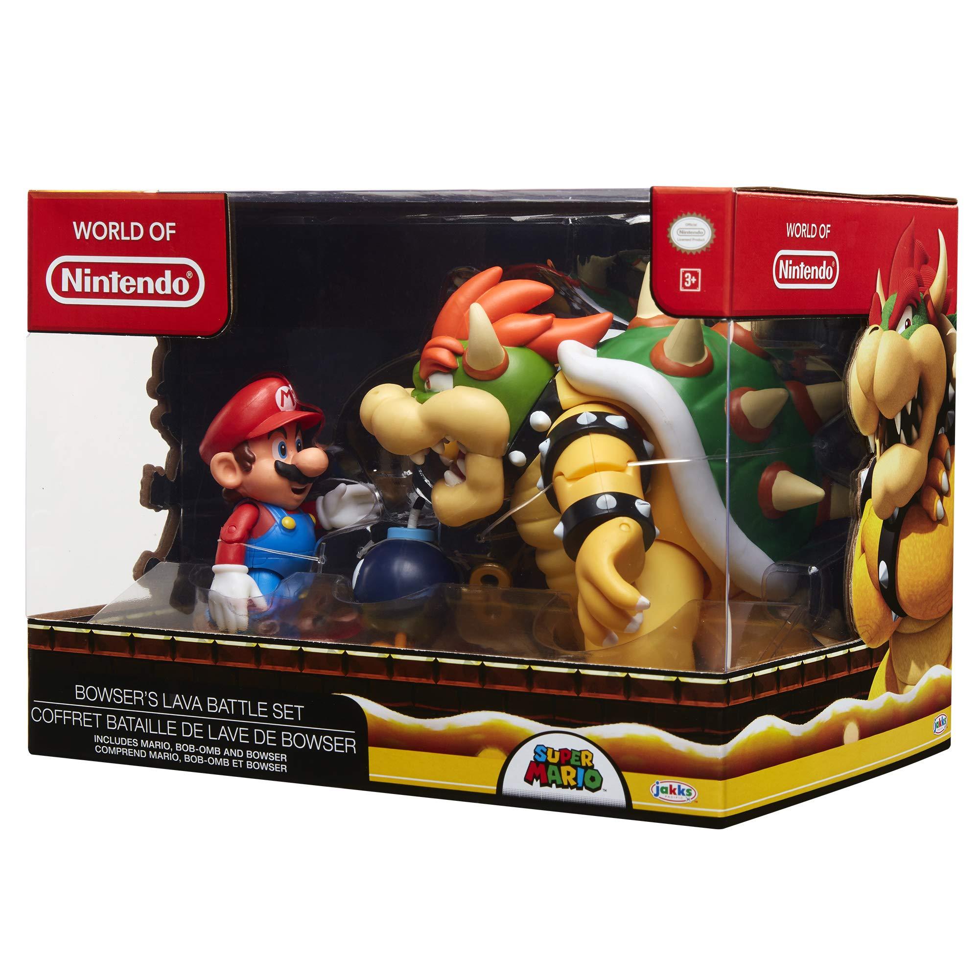 Nintendo Super Mario Bowser Vs Mario Diorama Figure 3 Pack by Nintendo (Image #7)