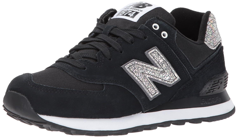 New Balance Women's 574V1 Shattered Pearl Sneaker B01MSOSWLD 12 D US|Black/Magnet