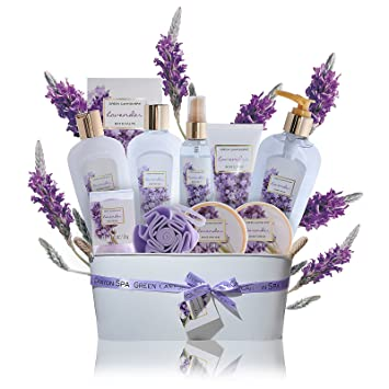 Spa Gift Baskets for Women Lavender - #1 Lush mothers day gift set in essential  sc 1 st  Amazon.com & Amazon.com : Spa Gift Baskets for Women Lavender - #1 Lush mothers ...