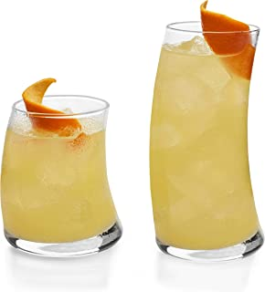 product image for Libbey Swerve 16-Piece Tumbler and Rocks Glass Set