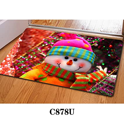youngerbaby ugly christmas decorations washable absorbent doormats entrance way floor mat carpet for homechristms - Ugly Christmas Decorations