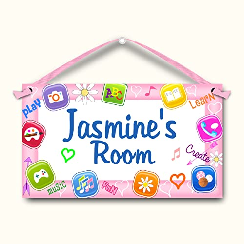Amazon Com Apps Personalized Kids Bedroom Door Sign Handmade