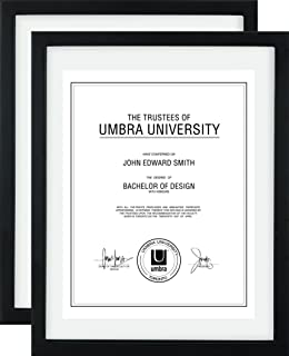 umbra document frame 11x14 inch modern picture frame designed to display a floating 85x11 - Document Frame