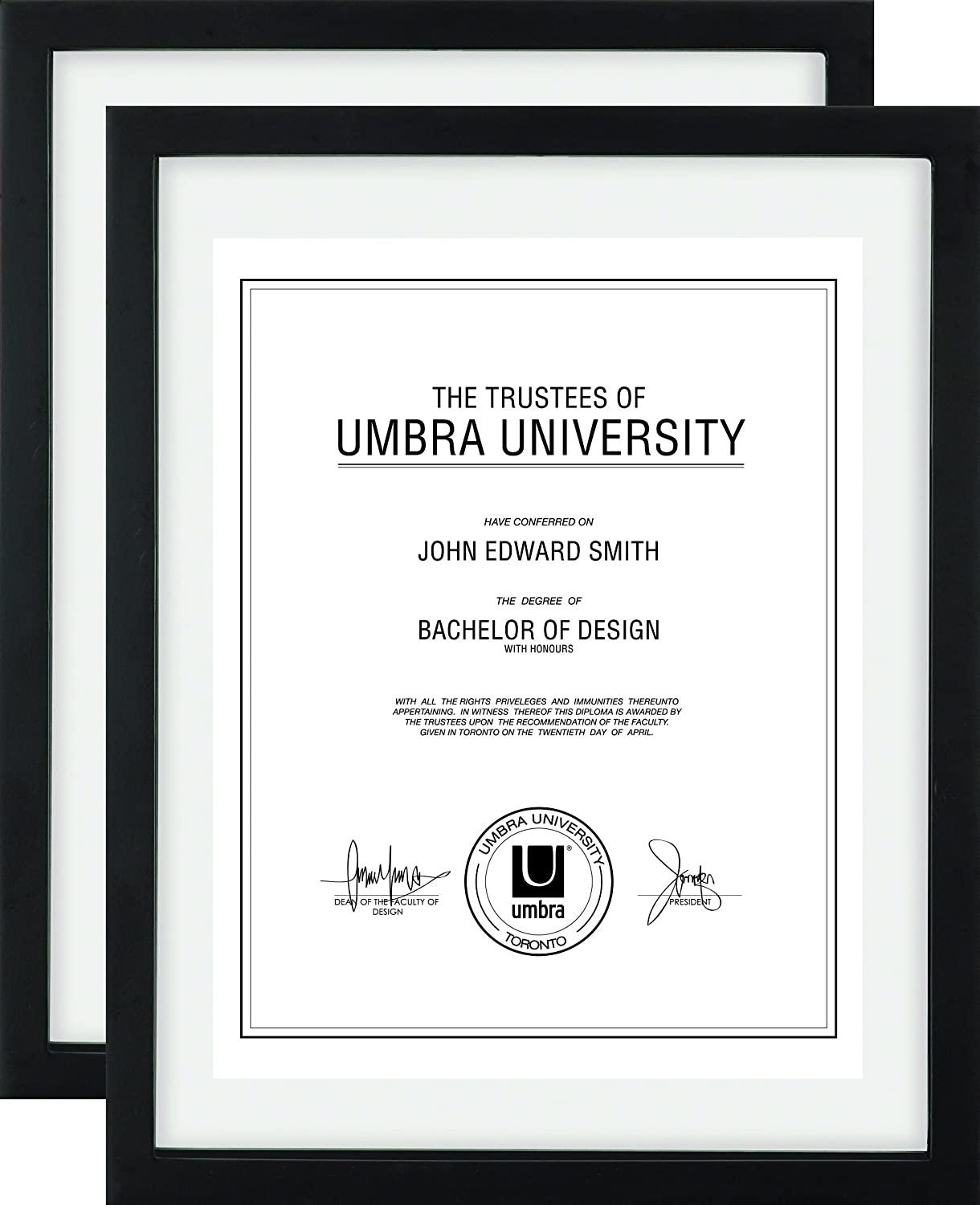 Umbra Document Frame 11x14 Inch - Modern Picture Frame Designed to ...