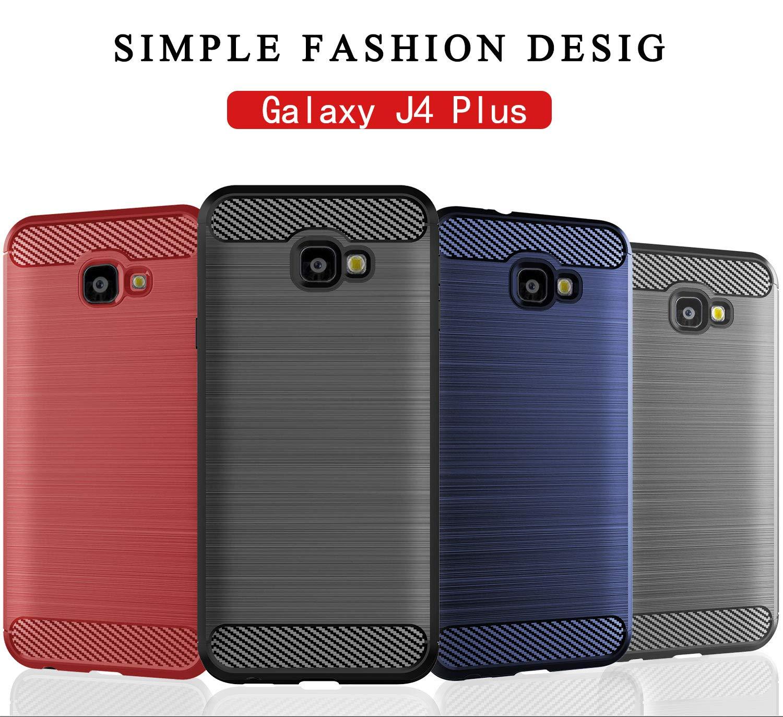 Amazon Samsung Galaxy J4 Plus 2018 Case SCL Samsung Galaxy J4 Plus J4 Prime J4 Case Exquisite Series Carbon Fiber Design Protective Cover