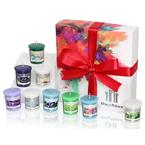 An Exclusive Luxury Gift Set Containing 9 Scented Candles In A Premium Box